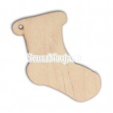 Wooden shape SOCK, 1 piece