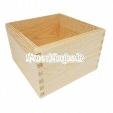 Medinė dėžutė be dangtelio