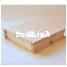 Unfinished wooden box, 1 piece