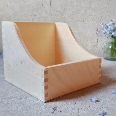 Medinė dėžutė nuotraukoms, popieriui, prieskoniams