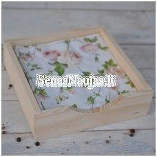 Medinė dėžutė servetėlėms