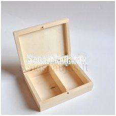 Medinė dėžutė su 2 skyreliais kortoms