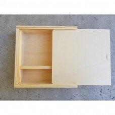 Medinė dėžutė su slankiuoju dangteliu