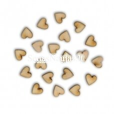 Wooden shape LITTLE HEARTS, 20 pieces