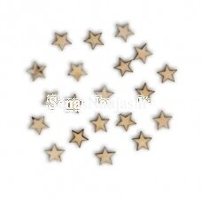 Wooden shape LITTLE STARS, 20 pieces