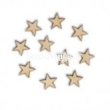Wooden shape STARS, 10 pieces
