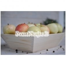 Deep wooden tray