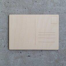 Unfinished Wooden Postcard