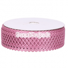 Fabric openwork ribbon, dust pink color