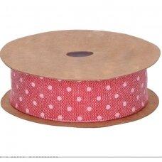Medžiaginė juostelė su taškiukais, tamsi rožinė sp.