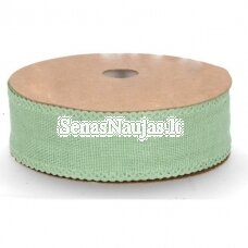 Fabric ribbon, light green color