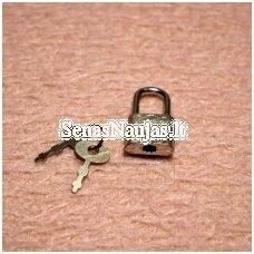 Metalinė spynelė su rakteliais