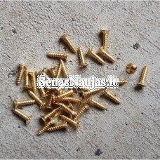 Metaliniai varžčiukai, aukso sp., 50 vnt.
