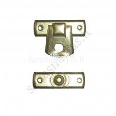Metalinis užsegimas be vinukų, aukso spalvos