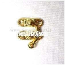 Metalinis užsegimas be varžčiukų, aukso spalvos