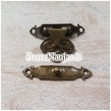 Metal clasp with no screws, 1 set