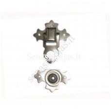 Metalinis užsegimas be vinukų, sidabro spalvos
