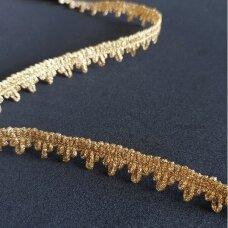 Metalizuota dekoratyvi juostelė, aukso spalva