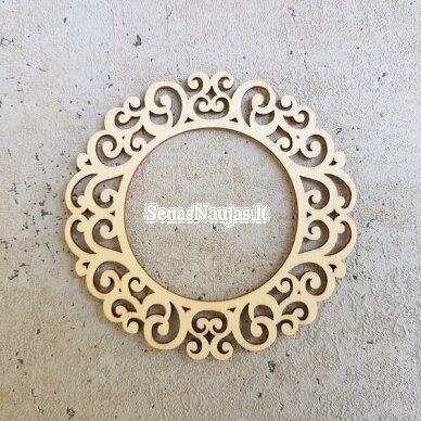 Medinė dekoravimo detalė APVALUS RĖMELIS