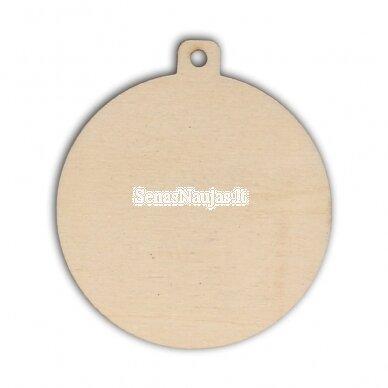 Medinė dekoravimo detalė KALĖDŲ ŽAISLIUKAS