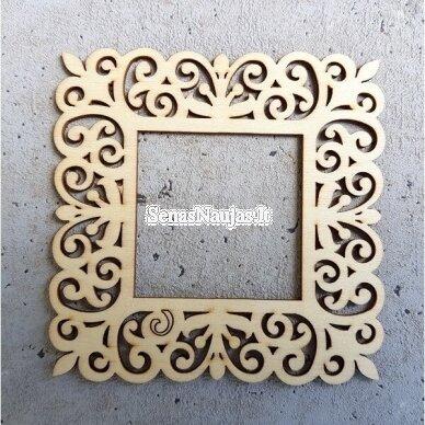 Medinė dekoravimo detalė RĖMELIS 2