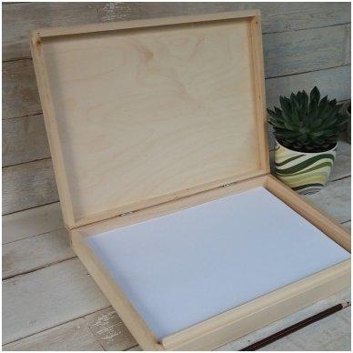 Medinė dėžė A4 formato popieriui 2