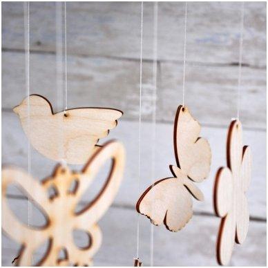 Medinė karuselė DRUGELIAI 3