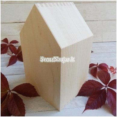 Medinė lentyna - namelis, mažiausia 4