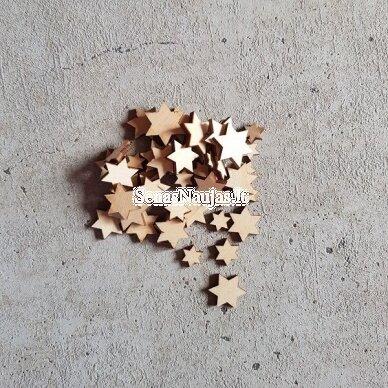 Medinės dekoravimo detalės ŽVAIGŽDUTĖS, 50 g