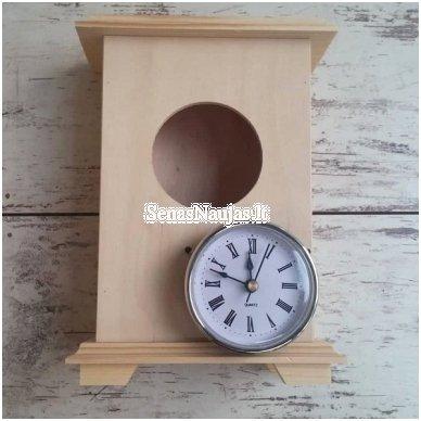 Medinis pastatomas laikrodis su mechanizmu 4