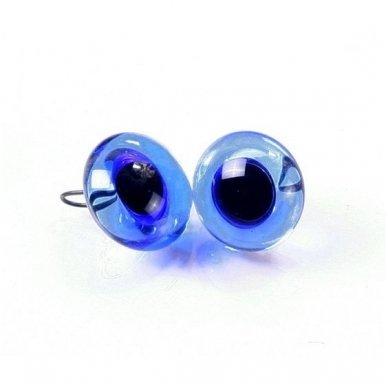 Mėlynos blizgios akys su kojele, 1 pora