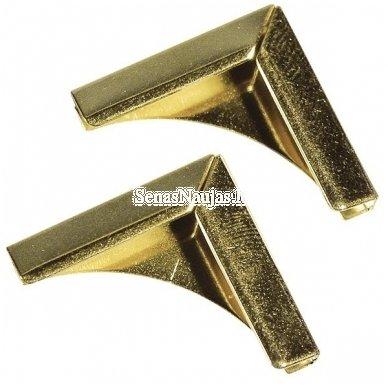 Metaliniai kampai, 4 vnt. (aukso sp.)