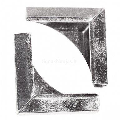 Metaliniai kampai, 4 vnt. (sidabro sp.)