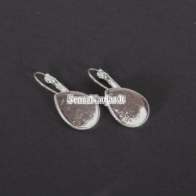 Metalinis pagrindas auskarams LAŠELIAI, 1 pora