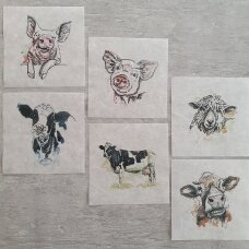 Mini ryžinio popieriaus rinkinys, 6 lapeliai