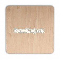 Square plywood coaster, 1 piece