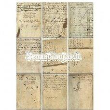 Permatomas pergamentinis popierius SENOVINIS TEKSTAS
