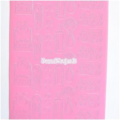 Peel of lipdukai, rožinės spalva