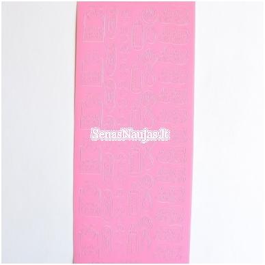 Peel of lipdukai, rožinės spalva 2