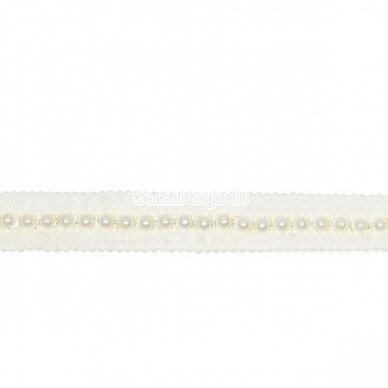 Pinta dramblio kaulo spalvos juostelė su karoliukais