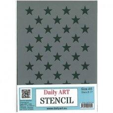 Plastic stencil STARS