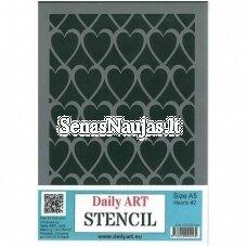 Plastic stencil HEARTS