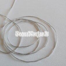 Plona sintetinė virvutė, šviesi pilka spalva