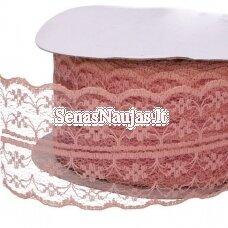 Ploni nėriniai, blanki rožinė spalva