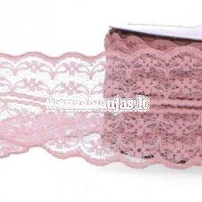 Plonų nėrinių ritinėlis, blanki rožinė spalva