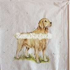 Paper napkin DOG, 1 piece