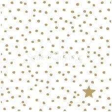 Popierinė servetėlė (1/4 foto) blizganti aukso sp.