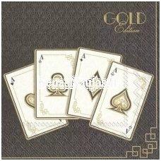 Popierinė servetėlė (1/4 foto) (aukso sp. blizga)