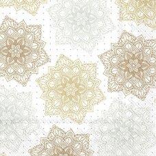 Popierinė servetėlė dekupažui MANDALOS, ¼ foto