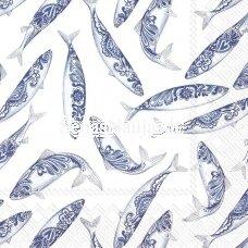 Popierinė servetėlė ŽUVYS (¼ foto), 1 vnt.